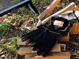 2way 耐熱グローブ Yaei Workers キャンプグローブ 牛革 耐火 レザーグローブ BBQ キャンプ ソロキャンプ 薪ストーブ 焚き火台 作業用手袋